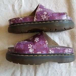 Dr Martens Purple Floral Sandals UK 6 US 8